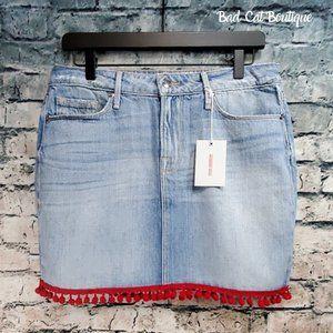 Good American | Pom Pom Denim Mini Skirt